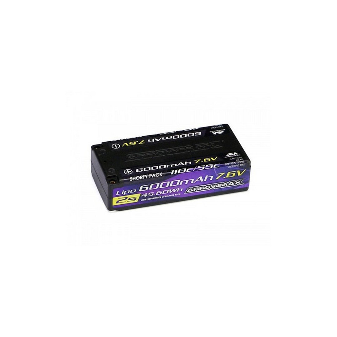 Arrowmax 700203 - AM Lipo 5500mAh 2S Shorty - 7.6V 55C Continuos 110C Burst